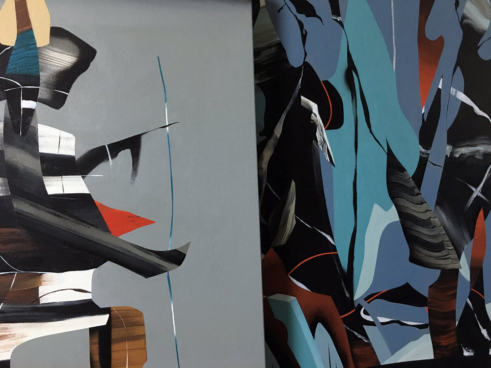 "A detailed look at of two of Dave Kinsey piece's for ""Reset"". Questions - info@athenbgallery.com"