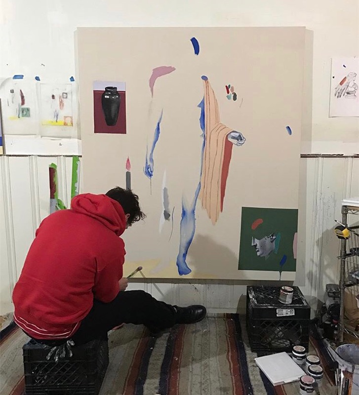 Caleb Hahne working in his Denver, CO studio.