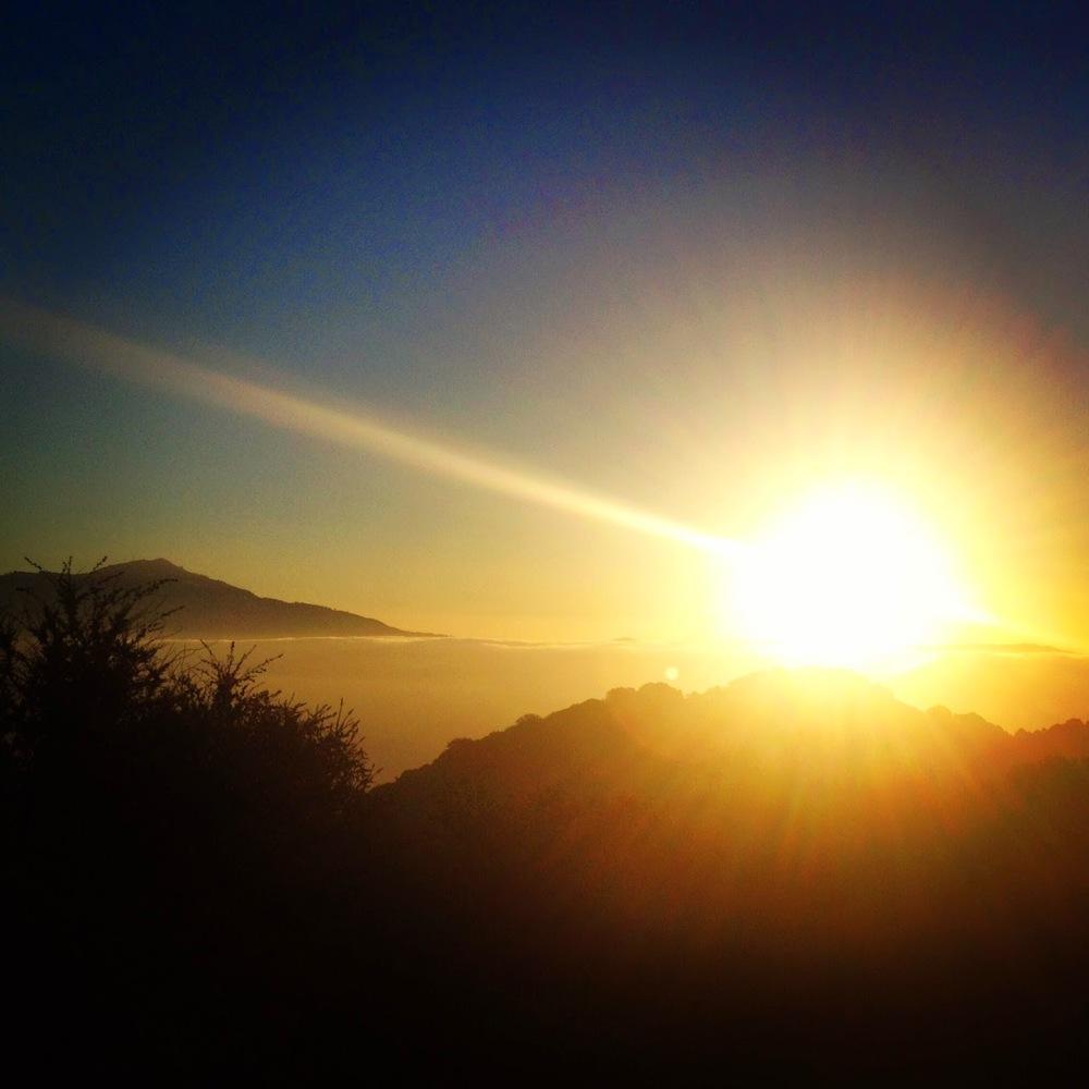 Las Trampas sunrise...
