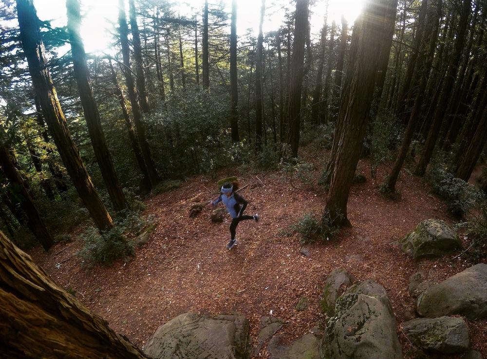 Logging some beautiful sunrise miles up to Redwood Peak.                            (Photo: J.Torralba)