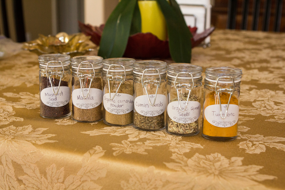 "The array of ayurvedic spices that our retreat participants brought home after our ""Spice of Life"" retreat."