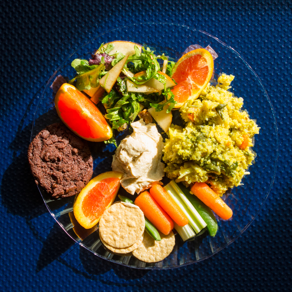 Plant-based lunch to refuel after yoga.  (Photos by Micki Keh)
