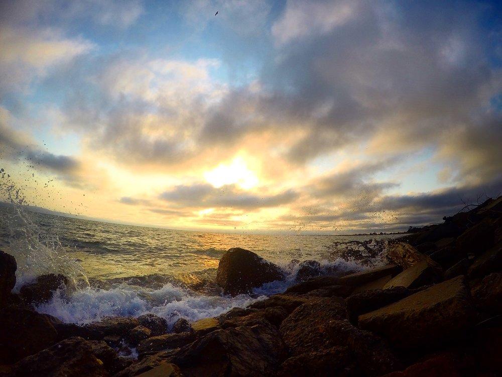 From today's sunset run along San Leandro Marina...