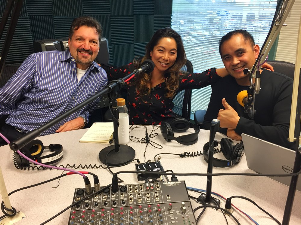 "Enjoyed my time recording in the studio as a guest on the radio show ""Aging By The Bay"""