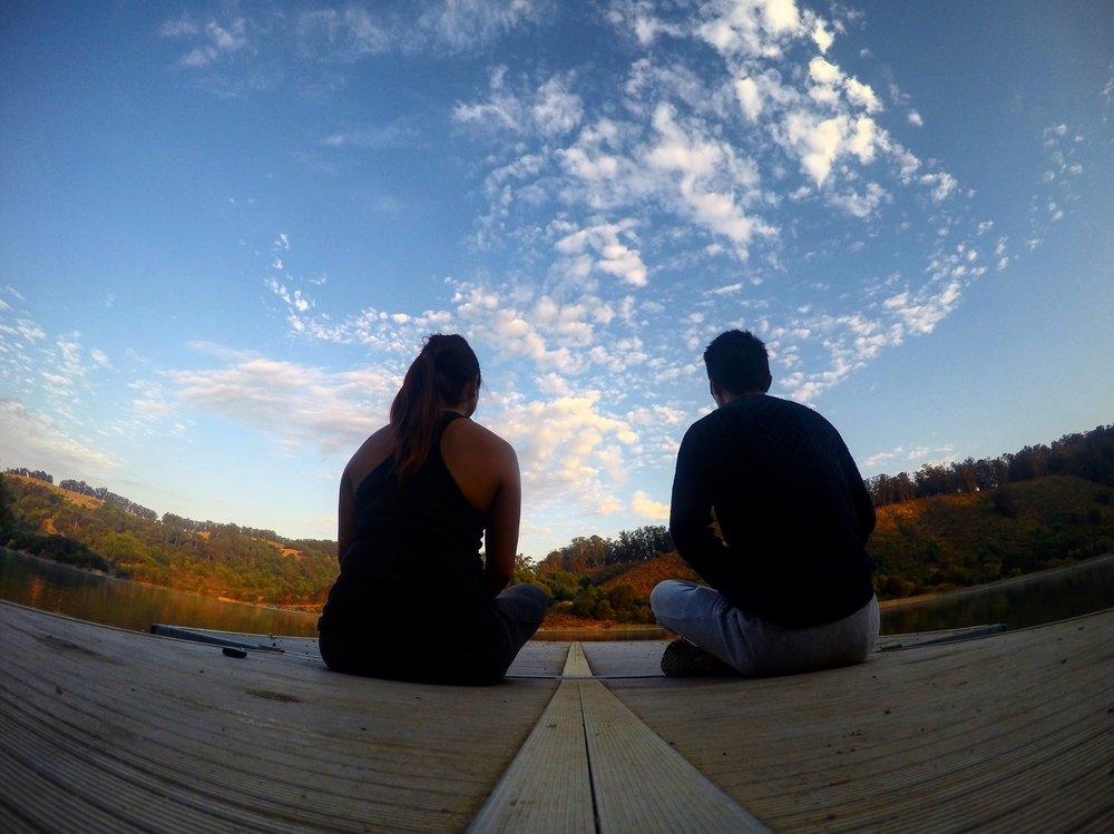 Sunrise meditation.