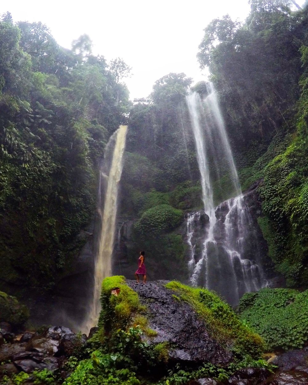 Sekumpul Waterfalls in North Bali.