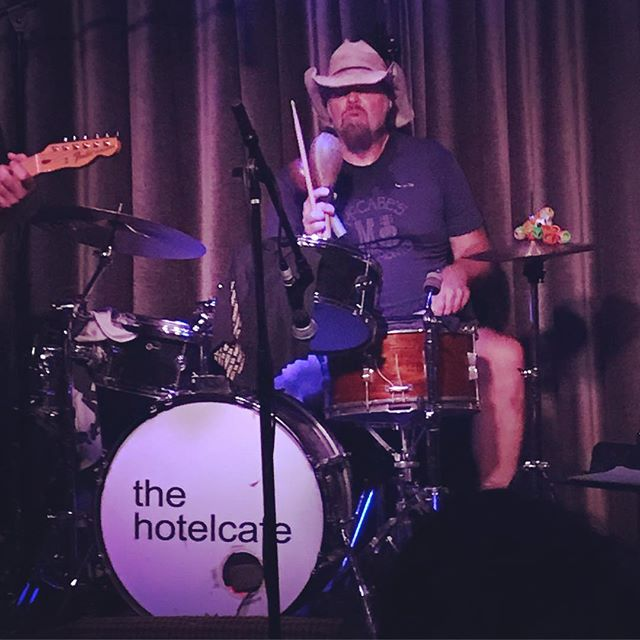 I got to play a super fun set last night in LA and was able to walk next door after and catch the great drummer Butch Norton playing with a trio in the small room. I've been a fan of Butch's playing for years, particularly with Eels (also check out his fantastic double drum break with Matt Chamberlain on Fiona Apple's track 'Limp'). Butch now plays with Lucinda Williams who came out to watch our show. It was so cool getting to see him play in such a stripped down situation and he was very kind and gracious to me when we talked after the set. Special night.