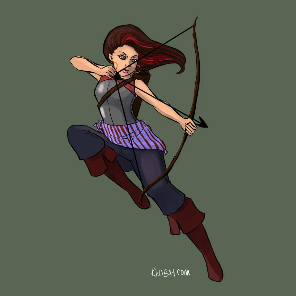 Anita Sarkeesian as an archer for #feministdeck