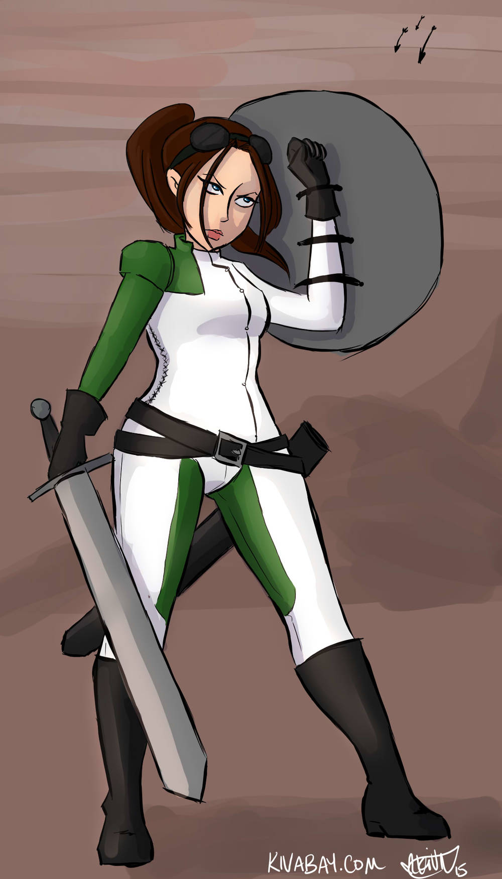 Brianna Wu in Revolution 60-inspired armor for #feministdeck