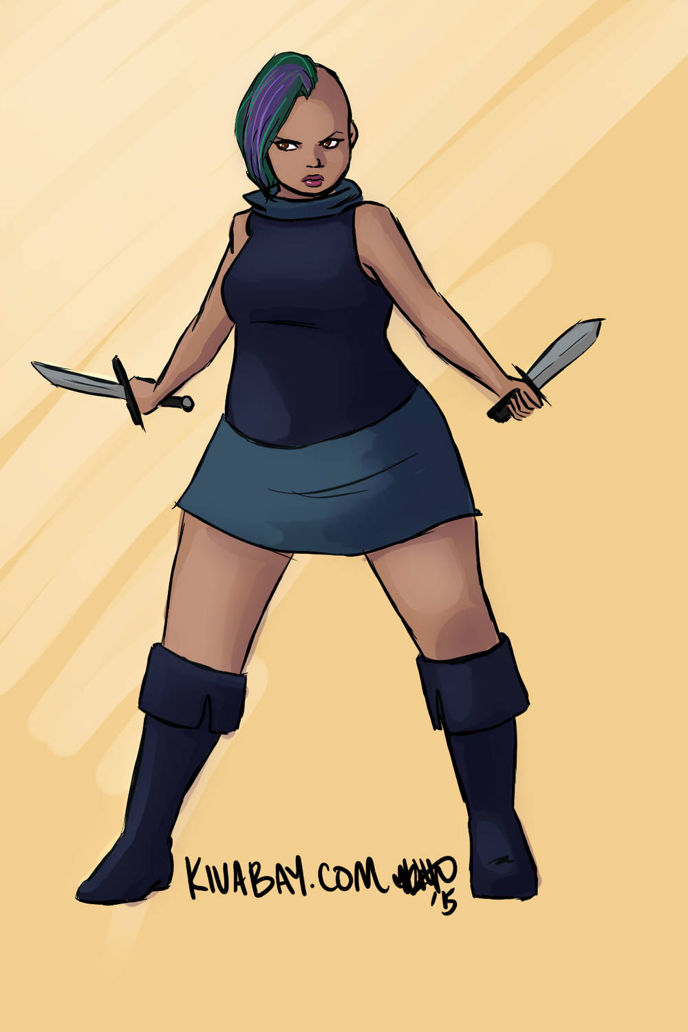 Bianca J Anderson as a rogue for #feministdeck