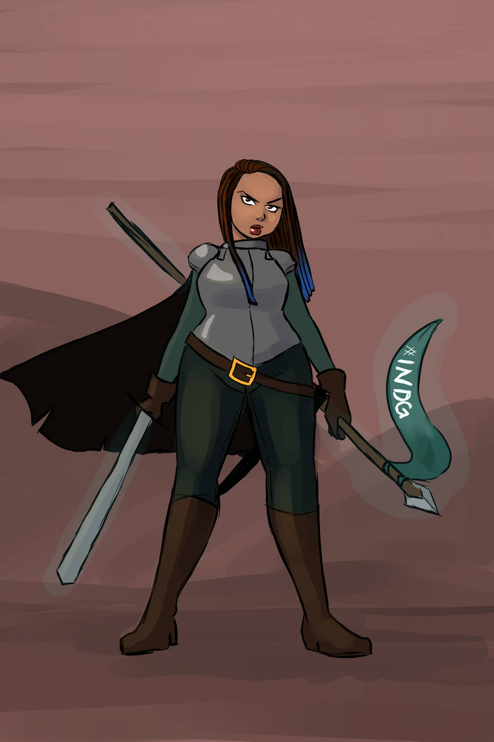 Tanya DePass as a paladin for #feministdeck and #INeedDiverseGames