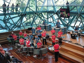 Pans on Fire. Steel pan band formed in Marysville following the Black Saturday bushfires. The band continues to rehearse and perform throughout Victoria.