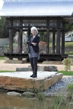 Lyndal Jones at Avoca Chinese Garden Small Town Transformations. Photo: Lachlan Bence