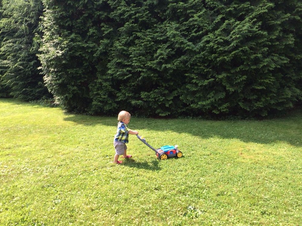 August 25·    Remembering summer: A boy at work.