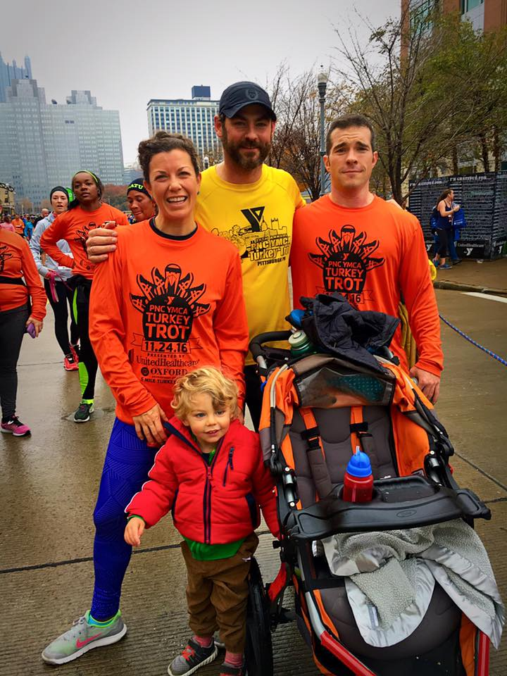 November 24.   Chris has run the Turkey Trot for years.    🦃     Until pretty recently, the thought of an early morning, let alone a run after Thanksgiving Eve    👉🏼    😆    🙈    😦   because of   👉🏼       🍾    🍷    🍻    🚬        I'm proof that it's never too late to make a change   👉🏼    🍏    💪    🍎     Thankful for all of the memories made during those late nights spent with people I love, and now my early mornings with people I love. And, beyond blessed for a healthy, mobile body.   Do what makes you feel good, stay inspired, and most importantly, show gratitude  ❤️   Happy Thanksgiving, friends!