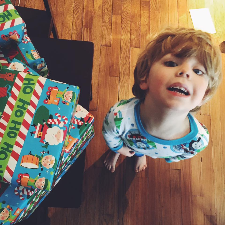 March 3.  Happy day, sweet boy. 🎈 You have blessed us in more ways than you will ever know. ❤️  *mental note* buy birthday themed wrapping paper.😂🎅🏼