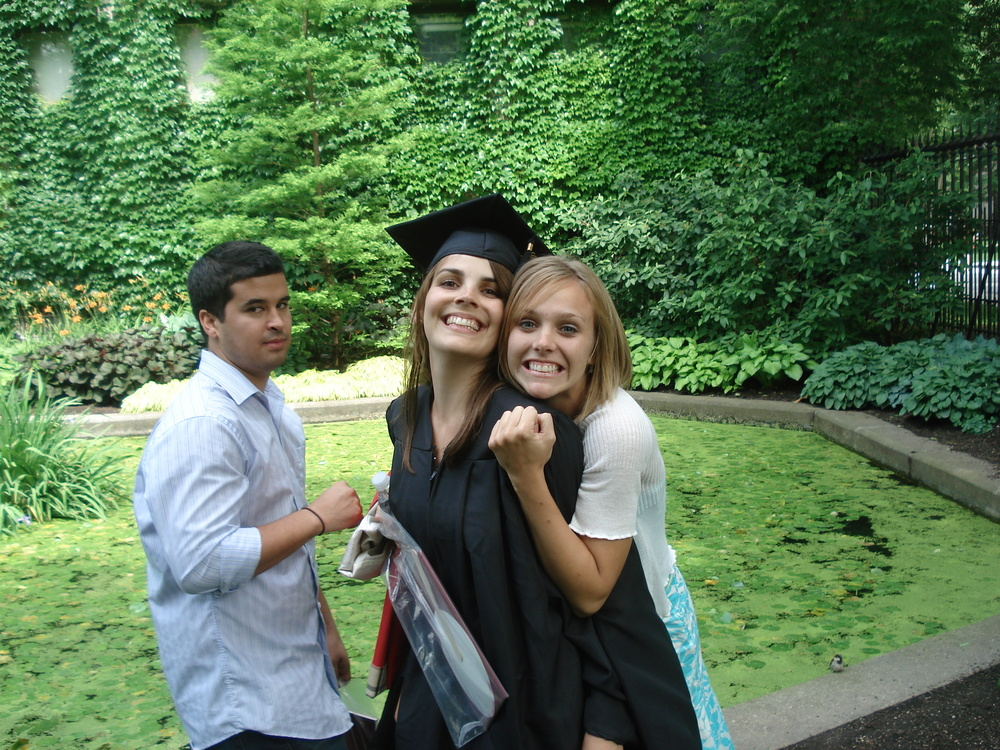 Supporting me at another graduation (Look at baby Garth =D - hah)!