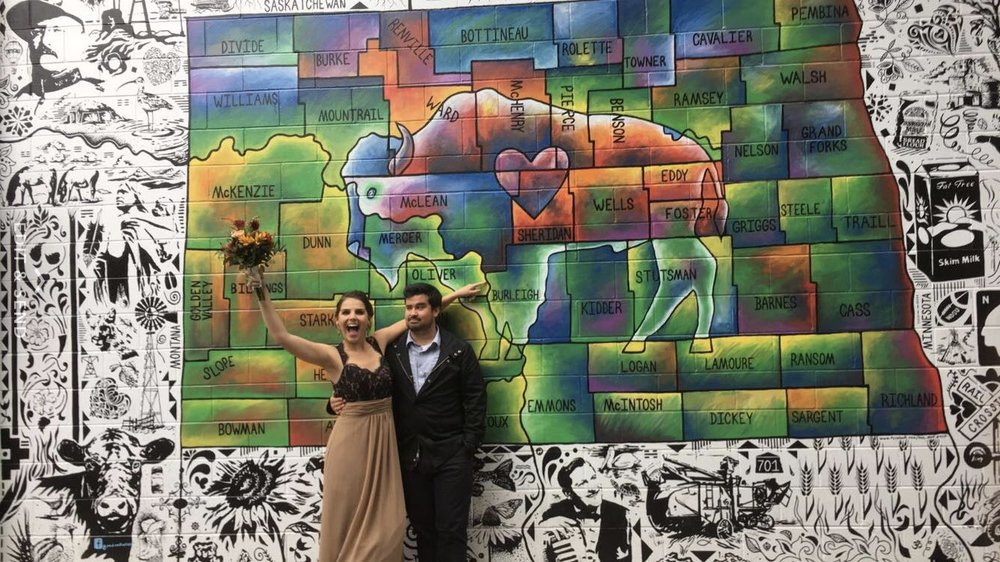 Bismarck, North Dakota for Lam Chop's wedding. October, 2016