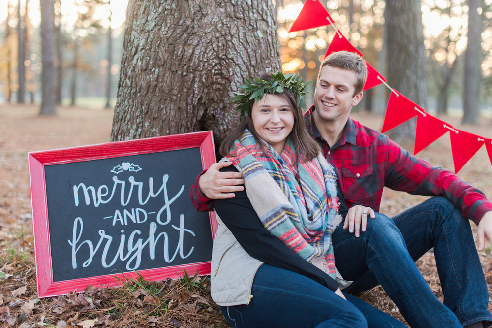 Elizabeth Henson Photography with Courtney Inghram Events Newlywed Christmas Photos