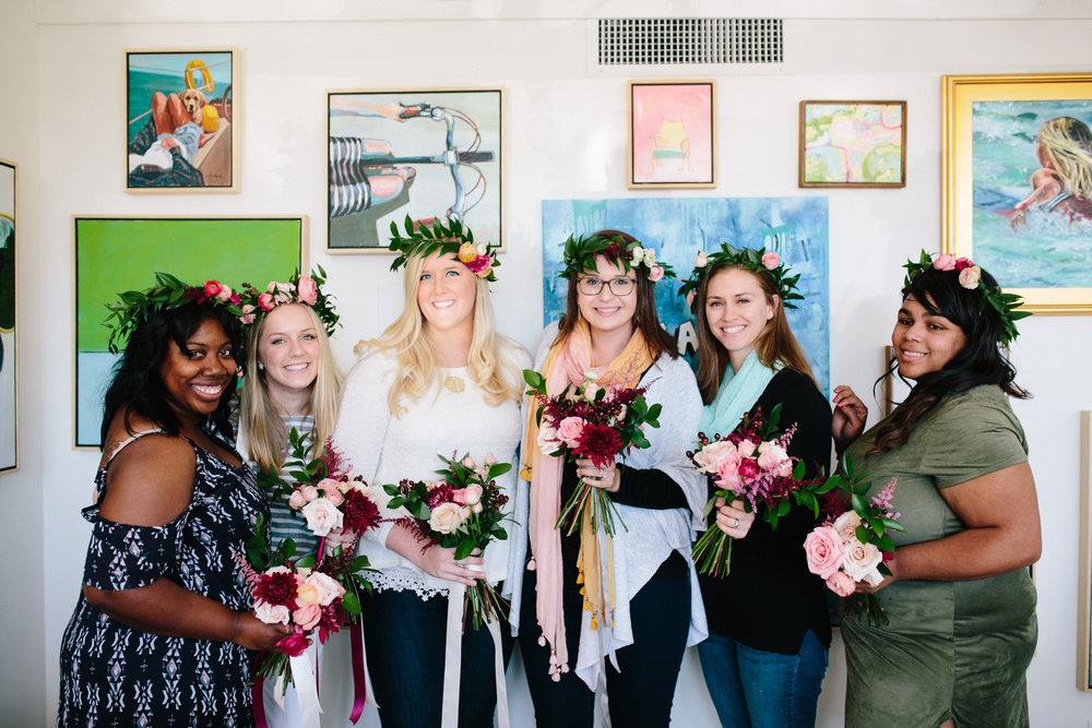 CIE Blooms and Brunch Workshop in Norfolk Virginia with Courtney Inghram Events