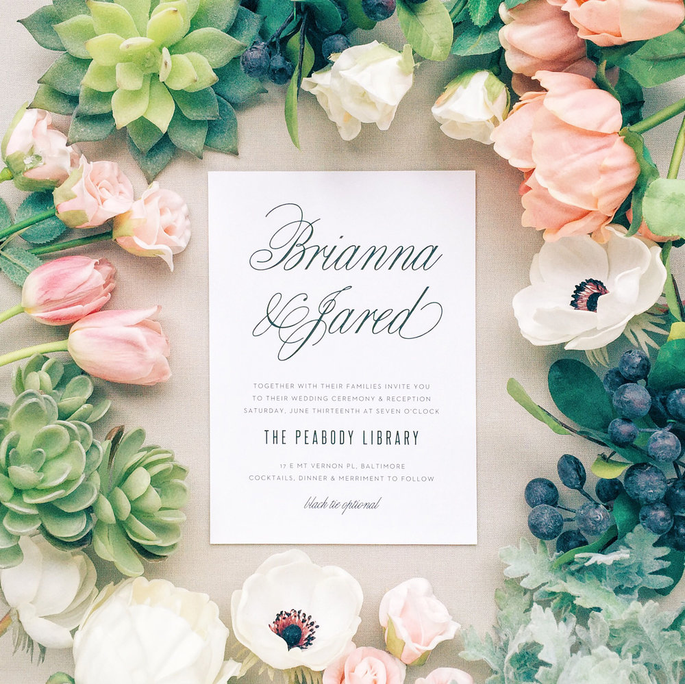 Courtney Inghram Virginia Wedding Florist Basic Invite