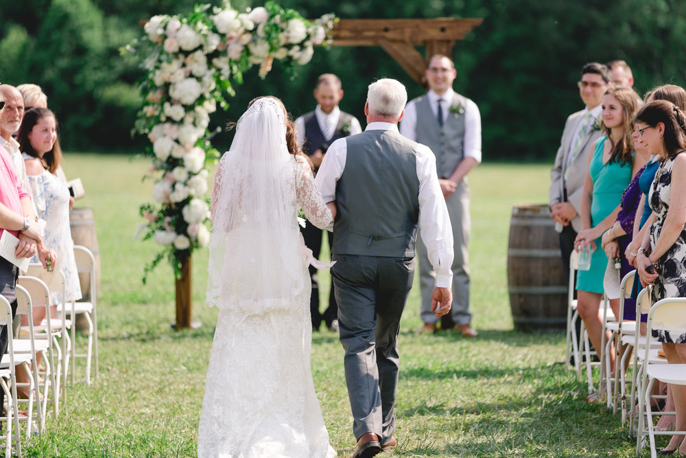 Courtney Inghram Williamsburg Winery Wedding Florist Virginia