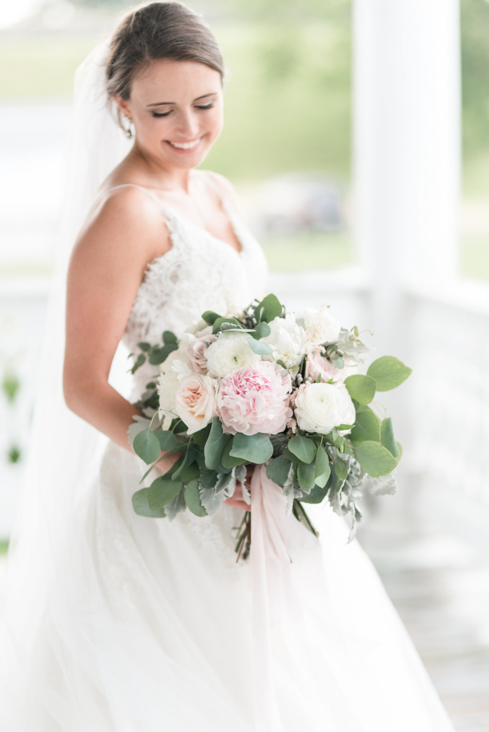 Courtney Inghram Historic Post Office Hampton Virginia Wedding Florist