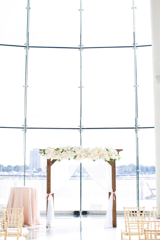 Courtney Inghram Half Moone Cruise Terminal Wedding Norfolk Virginia Wedding Florist