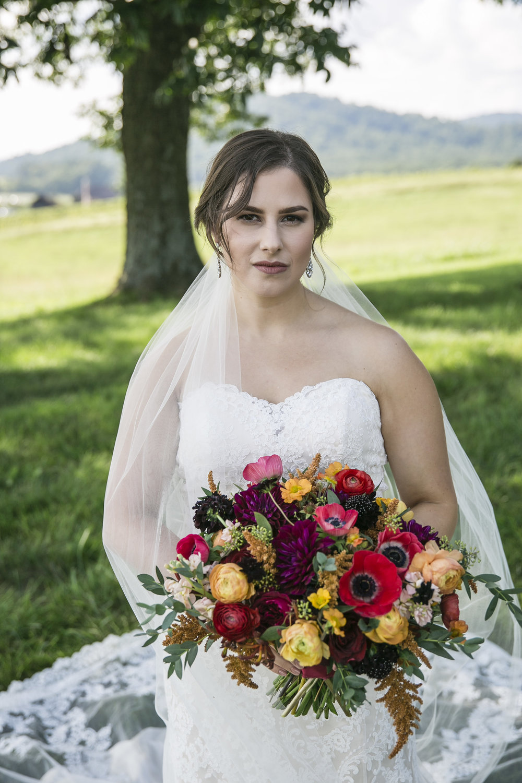 Courtney Inghram Early Mountain Vineyard Wedding Charlottesville Florist