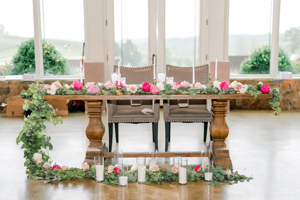 Courtney Inghram Stone Tower Winery Wedding Florist Virginia