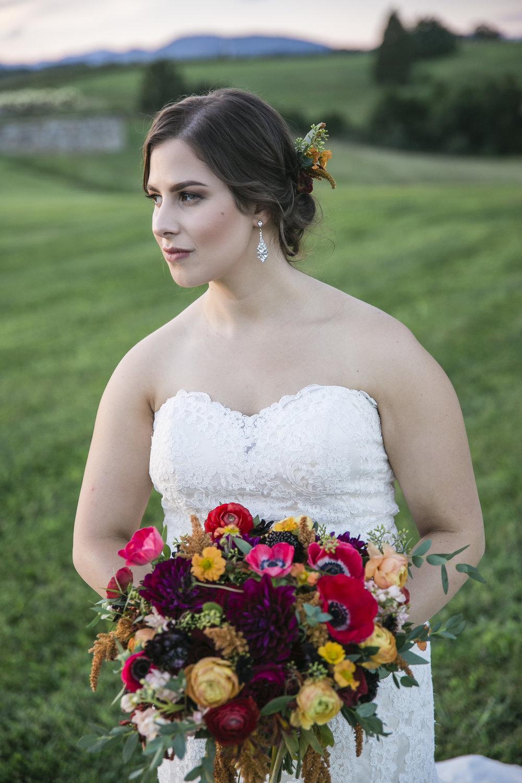 Courtney Inghram Early Mountain Vineyard Charlottesville Virginia Wedding Florist August Wedding