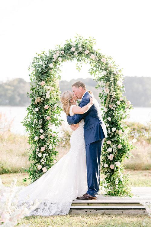 Courtney Inghram Richmond Virginia Wedding Florist, Outdoor Blush Fall Wedding