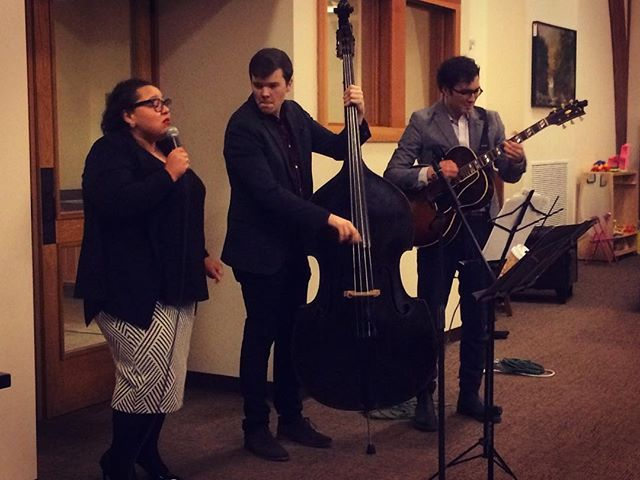 Jazz in the Snow with the @23artsinitiative at the Mountain Top Library! Featuring Brianna Thomas, @danchmjazz and @gabeschnider