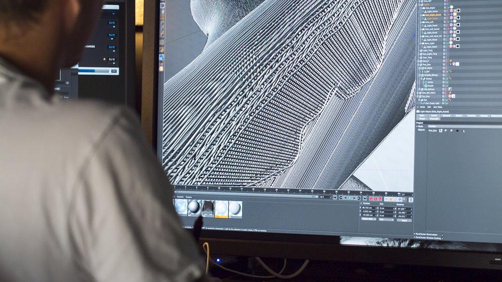 3D artist at work