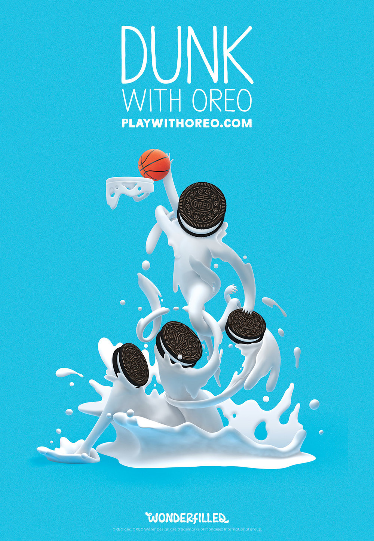 Dunk With Oreo - Alex Trochut
