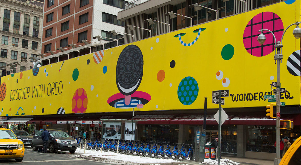 Discover With Oreo epic scale billboard
