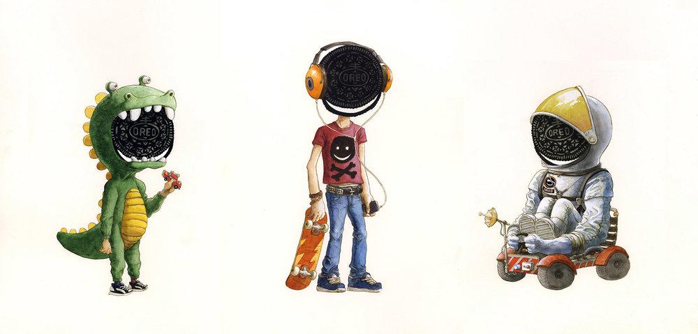 Oreo Heads by Will Godwin