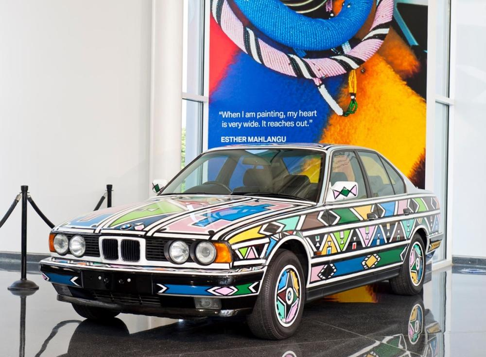 "Esther Mahlangu's BMW Art Car. ""When I am painting, my heart is very wide. It reaches out.""    - Esther Mahlangu"