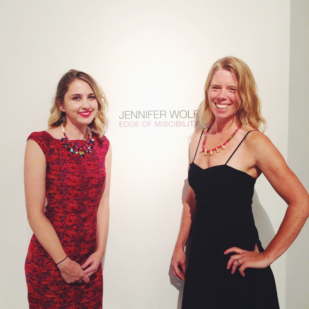 Me and Jennifer, wearing the Rajasthan Necklace to her opening at William Turner Gallery, 2015