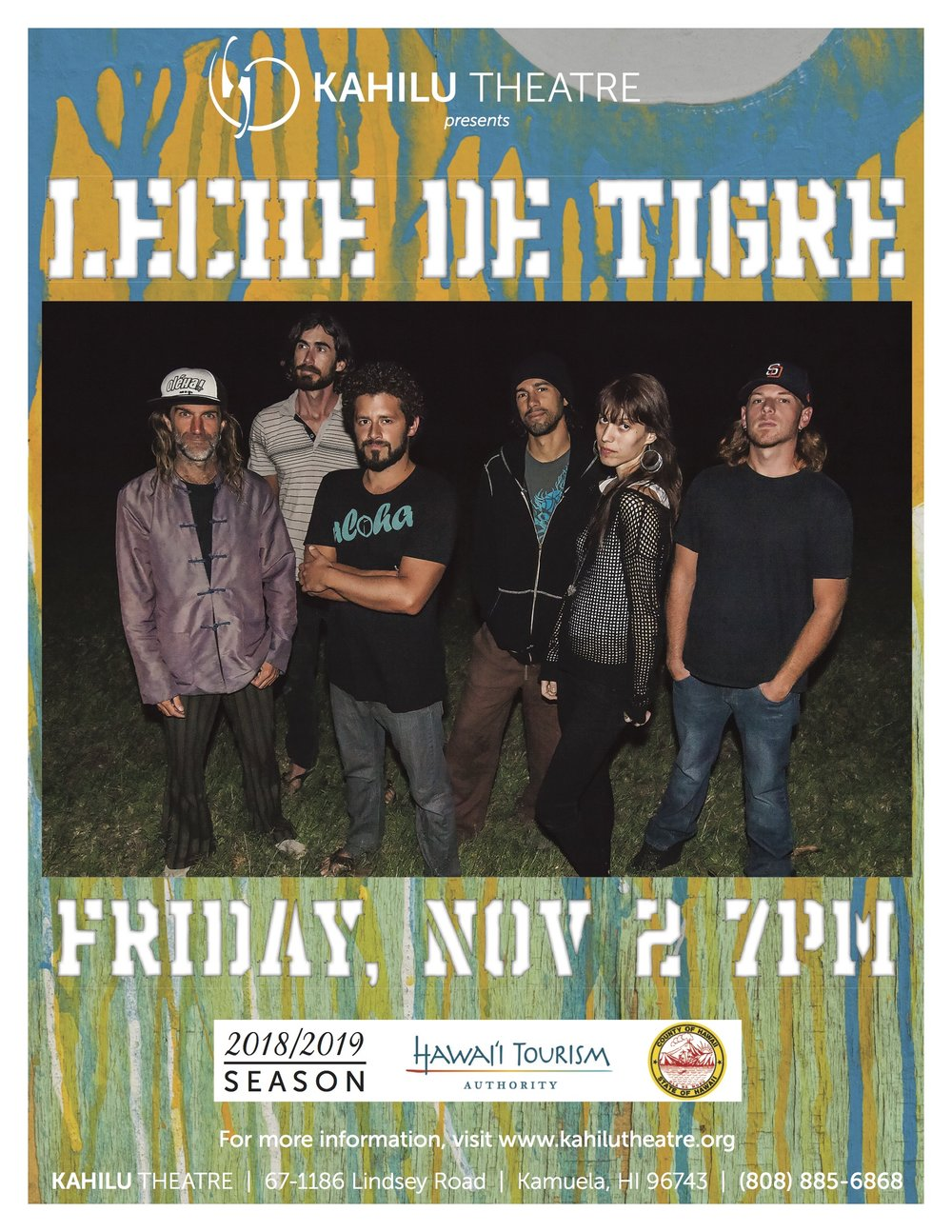 Nov 2nd party w/Leche - Kahilu Theatre Presents