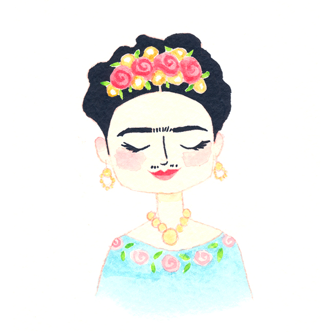 Frida Kahlo for her birthday, 2016