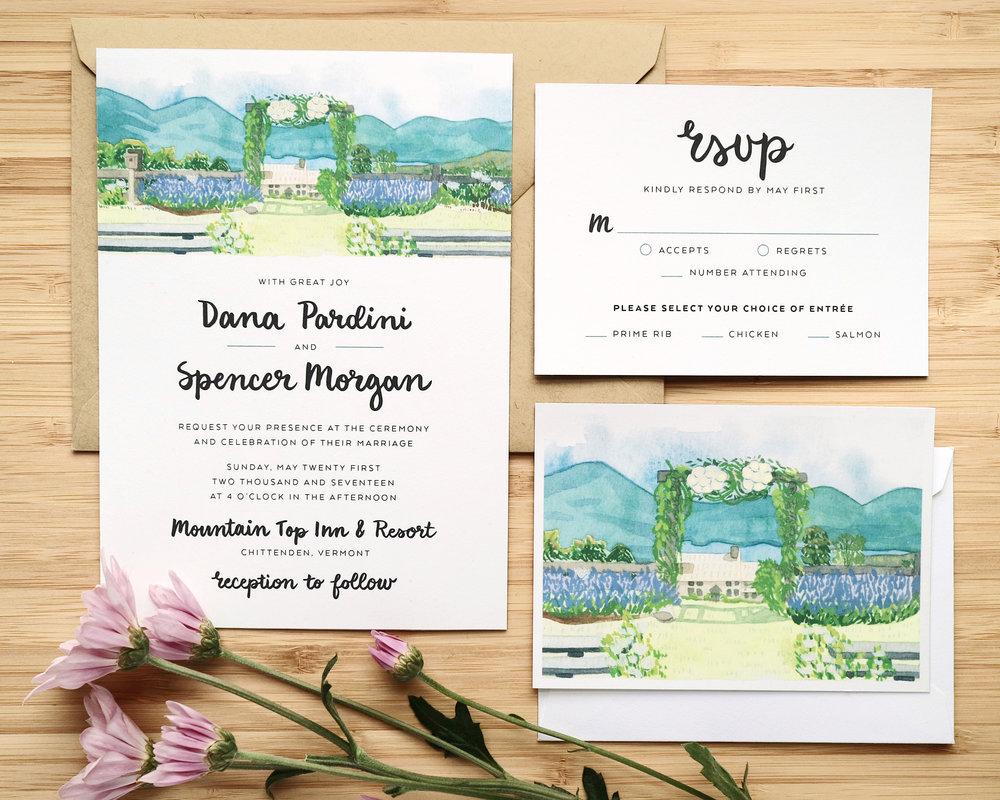 Wedding Invitations — Katie Pea Studio