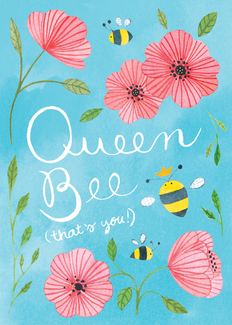 Queen Bee Card_colored bg_white text.jpg