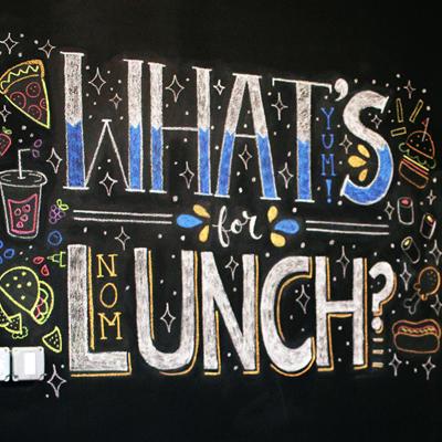 MealPal Chalkboard Mural