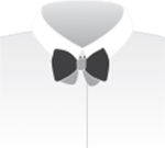 STEP 6: Your bow tie will be uneven at this point. Although a few bow tie enthusiasts purport a preference for this look, we suggest that some tightening is on order. This is where you fashion your own unique style. With a large knot or a small one. With dimpled bows or smooth...