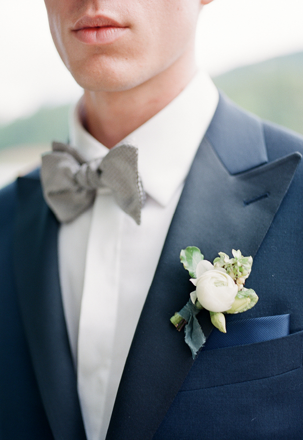 A hand-tied tie is worth the investment and completes the look.