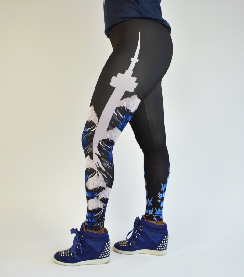 BLUE JAY FEATHER LEGGING - The best way to represent your favourite city and baseball team AND be fashionable? With our new leggings! Super comfortable and stylish, you'll want to wear these everyday.