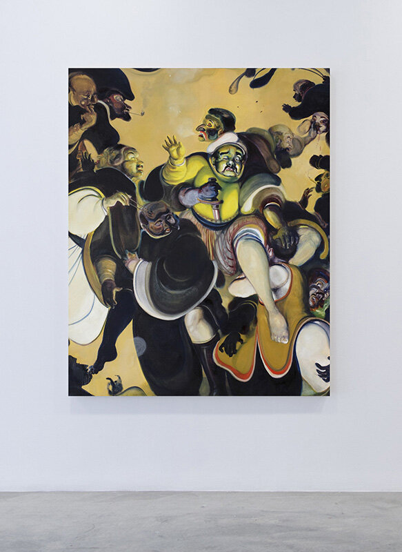 Court tasting  (2017) Oil on canvas, 140 x 175cm