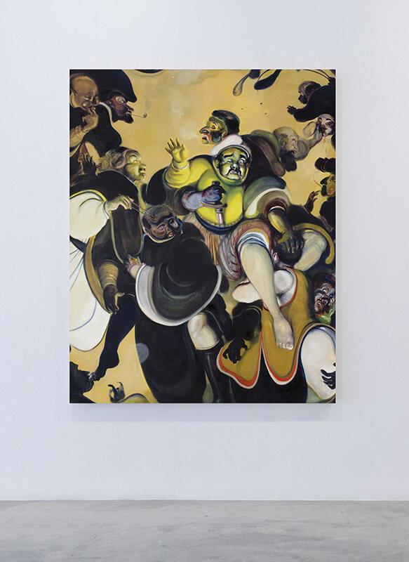 Court tasting (2017) Oil on canvas, 140 x 175cm