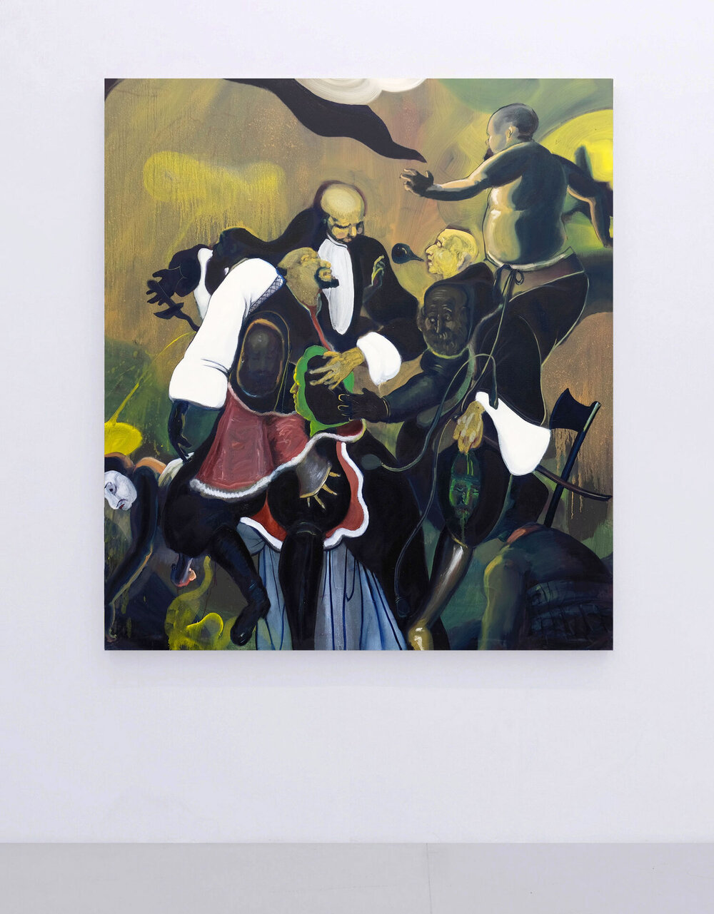 Conquistador & Co  (2017) Oil on canvas, 155 x 175cm